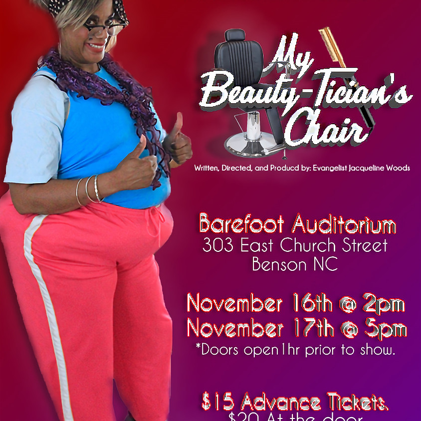 MY BEAUTY-TICIAN'S CHAIR (11/16 @ 2:00 P.M.)