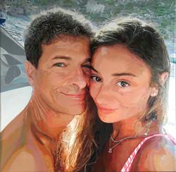 _Giancarlo e Melissa_ acrilico su tela, cm.80x80