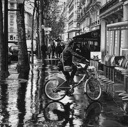 """""""Paseggiando in bicicletta"""", acrilic"""
