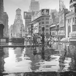 Times Square, acrilico su tela.