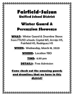 FSUSD - Winter Guard and Percussion Show