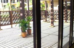 veranda view from inside the studio