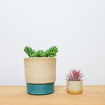 Sand Dunes Plant Pot: Small Turquoise