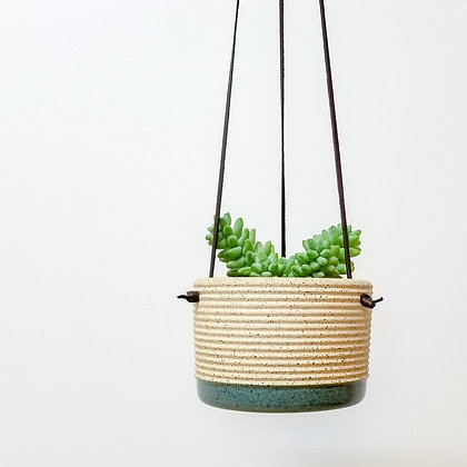 Hanging Plant Pot: Small Blue
