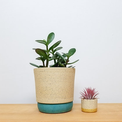 Sand Dunes Plant Pot: Medium Turquoise