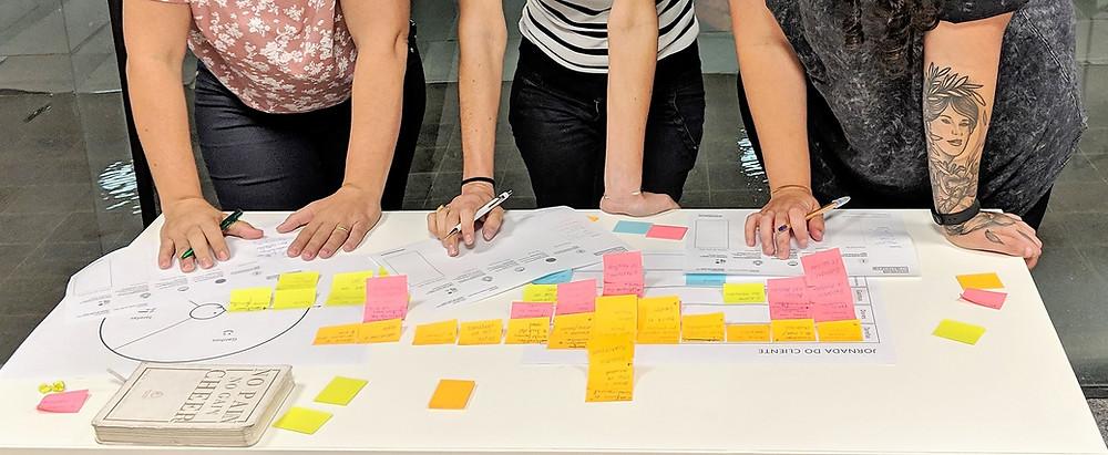 Um trio muito produtivo-Workshop Design Thinking Palhoça 2018