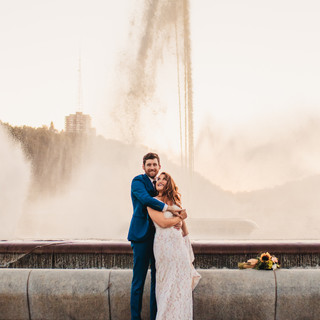 The Point Fountain Wedding Photography Pittsburgh Photographer