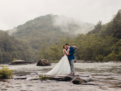Dreamy and Low-Stress Weddings at Ohiopyle and Cucumber Falls