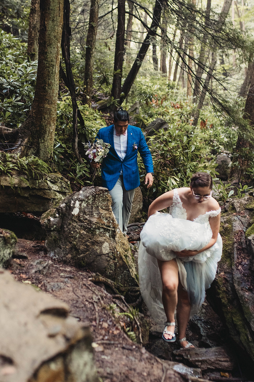 Ohiopyle Elopement - Pittsburgh Pennsylvania Wedding Photographer