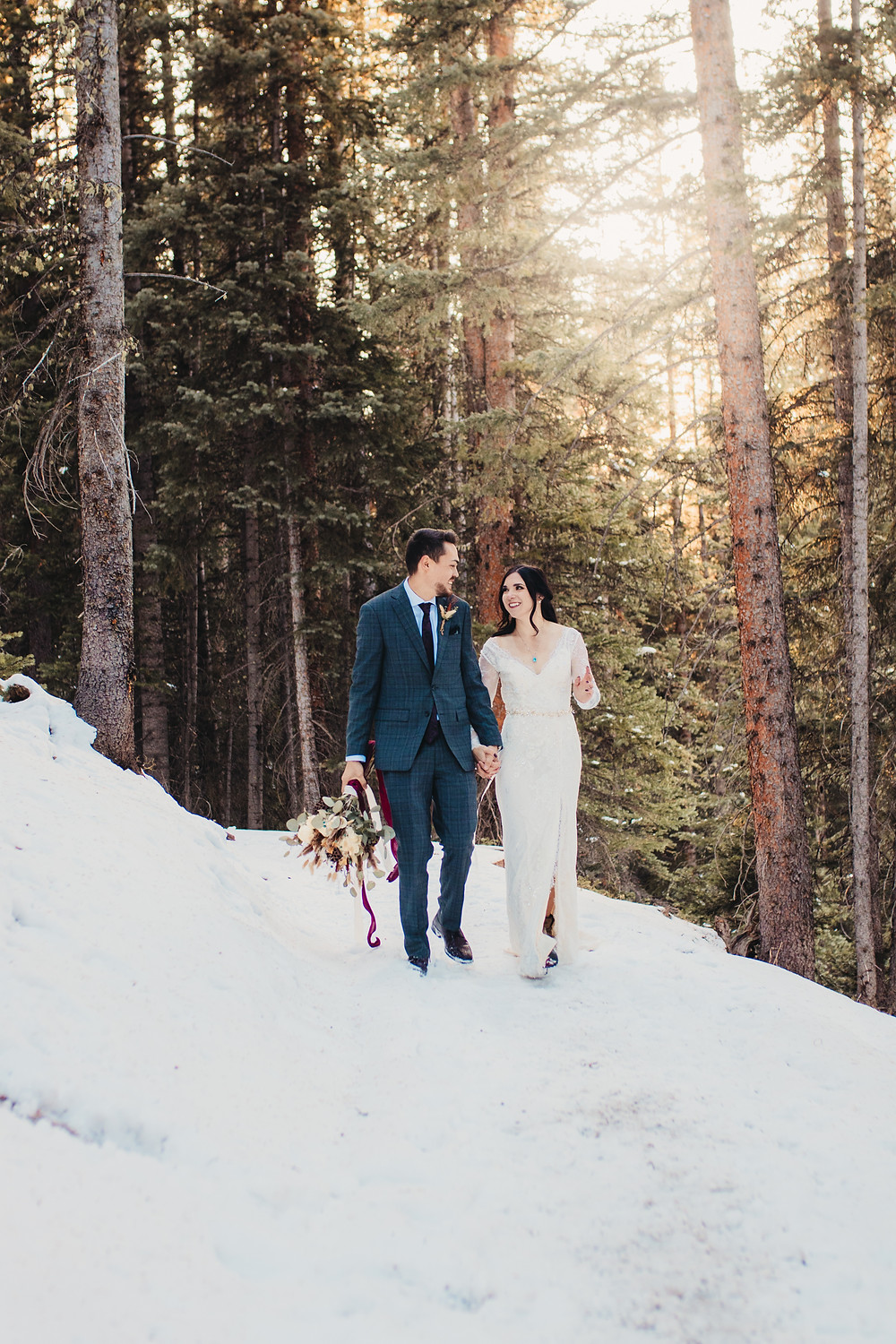 Colorado Wooded Mountain Elopement