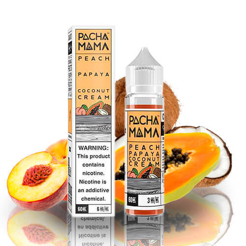 Pacha Mama - Peach Papaya Coconut Cream 50ml Shortfill