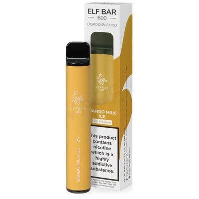 Elf Bar 600 - Mango Milk Ice 20mg