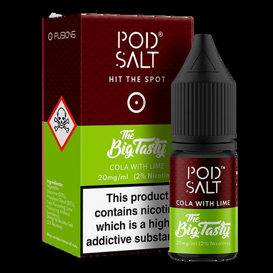 Cola With Lime By Pod Salt and Big Tasty 10ml 20mg