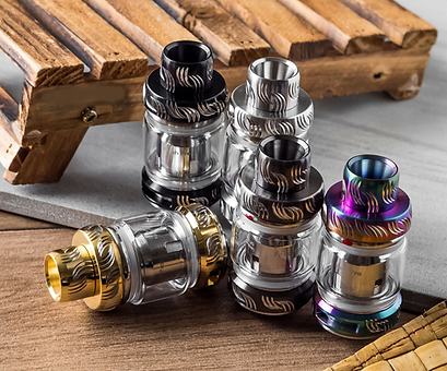 Tanks are the component of your vaping device, or rig, which include a reservoir to hold additional vape juice, and the coil to fire and create the vapor | Vape Shop Malta