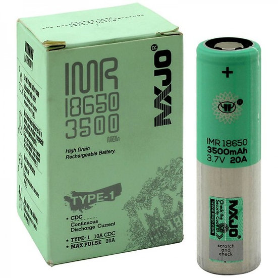 MXJO IMR 18650 3500MAH 20A 3.7V Battrey