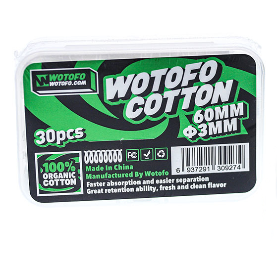 Agleted Cotton Wick By Wotofo 3mm 30pcs