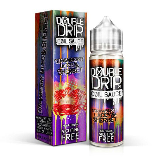 Double Drip - Strawberry Laces & Sherbet 50ml Shortfill