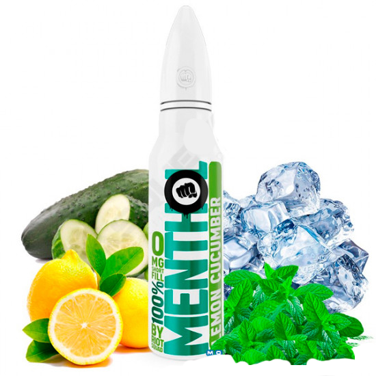 Riot Squad - 100% Menthol Lemon Cucumber 50ml Shortfill