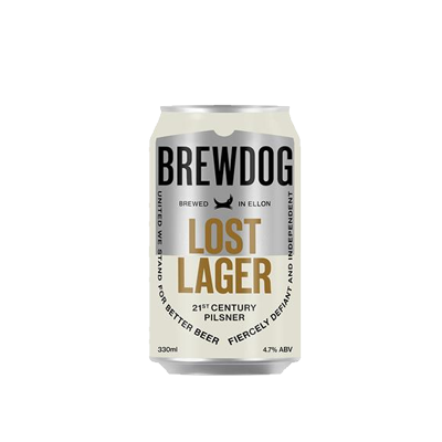 Lost Lager 330ml can – BrewDog
