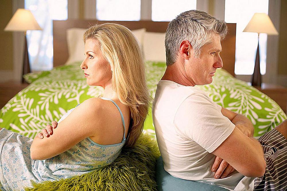 супруги, обиженные друг на друга