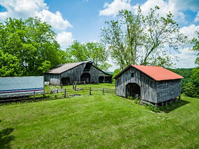 For Sale, Beautiful Barns, Rustic Log Home, Lake Views on 15 acres of Tennessee Land!