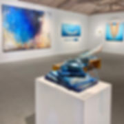 """Through Wisdom Waters"" Series - acrylic mixed-media sculpture"