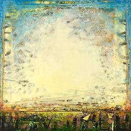mixed-media encaustic landscape