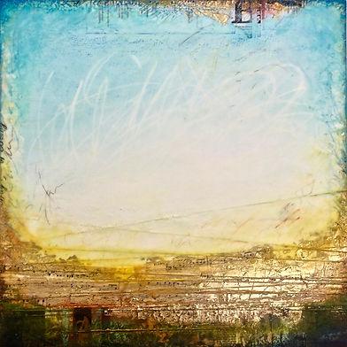 spiritual place, mixed-media encaustic painting