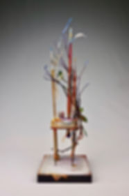 """Memoir - Chapter 2"", Seat of the Soul, 17 1/2"" x 5"" x 5"", mixed-media assemblage"