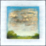 """Sky Symphony III"", Tapestry Landscape Series, 8"" x 8"" x 1 1/2"", mixed-media encaustic"