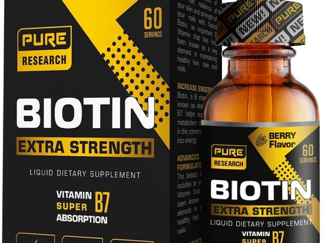 Extra Strength 10000mcg Biotin Drops by PURE RESEARCH – Review