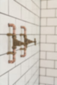 Brushed brass basin taps