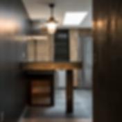 Industrial concrete kitchen island