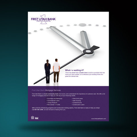 Poster Design-First Utah Bank