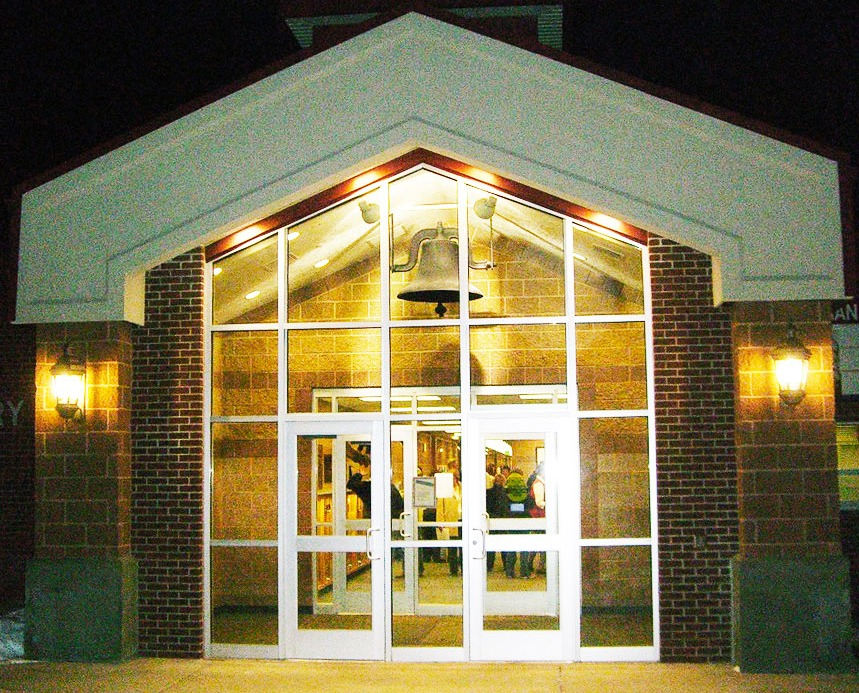 Ashman Elementary at Night