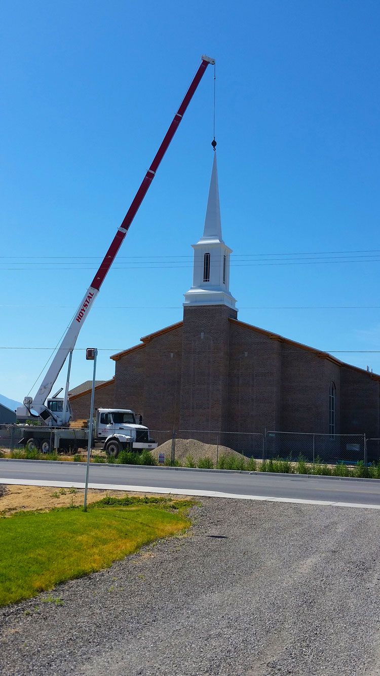 Vineyard Steeple Placement