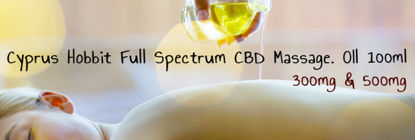 Cyprus Hobbit Full Spectrum CBD Massage Oil 100ml