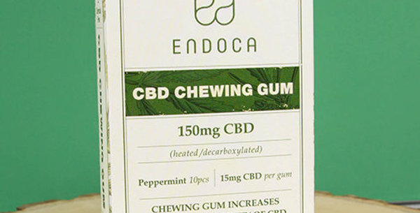 Endoca CBD Chewing Gum Peppermint 10pcs