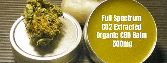 Full Spectrum CO2 Extracted Organic CBD Balm 500mg (30gr.)