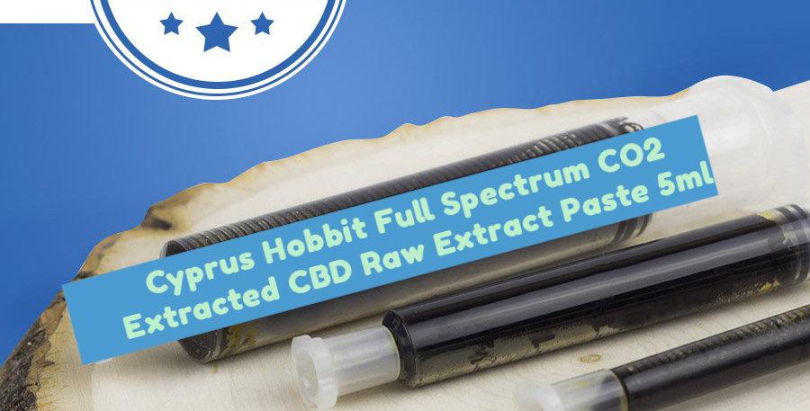 Cyprus Hobbit Full Spectrum CO2 Extracted CBD Raw Extract Paste 750mg (15%) 5ml