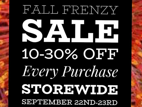 Fall Frenzy SALE!