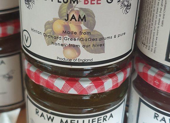 PlumBee G's- Home grown Greengages plums & pure honey jam  200gr -
