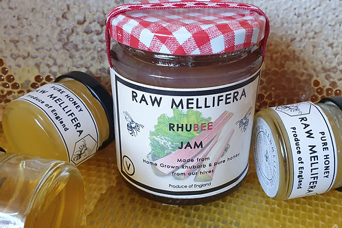 RhuBee - Home grown Rhubarb & pure honey jam -