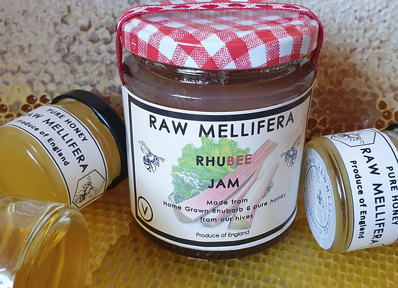 RhuBee - Home grown Rhubarb & pure honey jam - 200gr