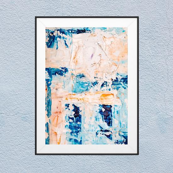 Bleu Painting Abstract