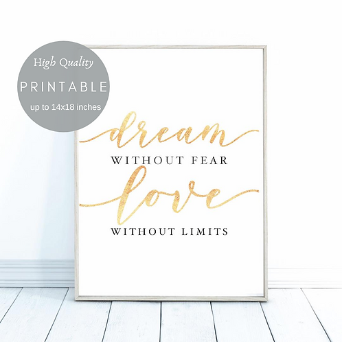 Dream without fear Love without limits