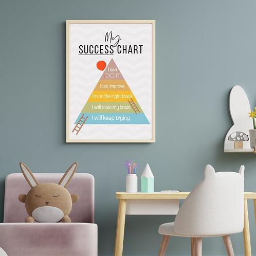 My Success Chart | Framed Wall Print