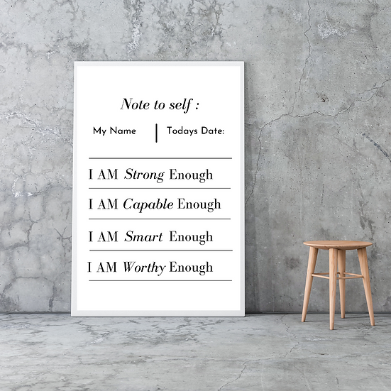 100% Personalized I AM Canvas