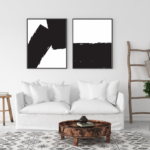 Set of Two Black and White Frame