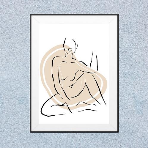 Beige Body Boho Wall Art